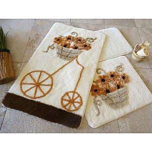 Набор ковриков для ванной DO&CO ALACATI (60*100; 40*60), коричневый