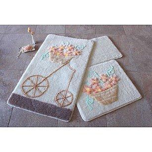 Набор ковриков для ванной DO&CO ALACATI (60*100; 40*60), персиковый