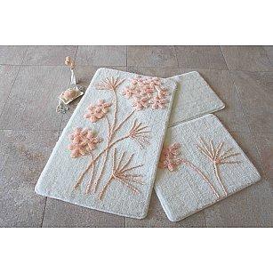 Набор ковриков для ванной DO&CO ORKIDE (60*100; 40*60), персиковый