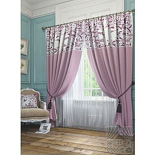 """Комплект штор """"Агно"""", розовый, 260 см"""