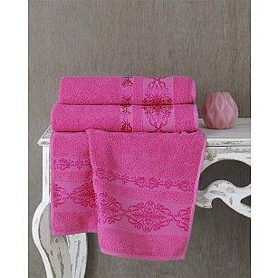 "Полотенце махровое ""KARNA REBEKA"", розовый"