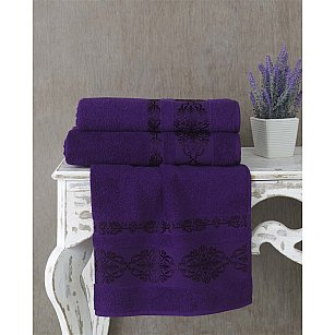 """Полотенце махровое """"KARNA REBEKA"""", фиолетовый"""