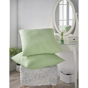 """Комплект трикотажных наволочек """"KARNA ACELYA"""", светло-зеленый, 70*70 см"""