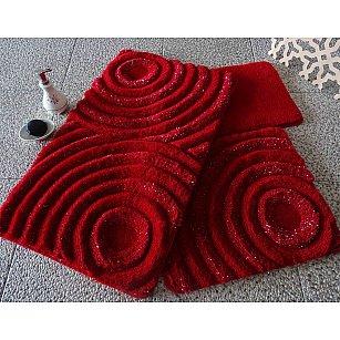 Набор ковриков для ванной DO&CO WAVE (60*100; 40*60), красный