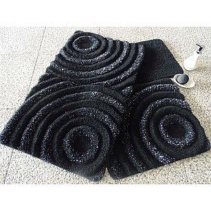 Набор ковриков для ванной DO&CO WAVE (60*100; 40*60), черный
