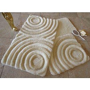 Набор ковриков для ванной DO&CO WAVE (60*100; 40*60), натуральный