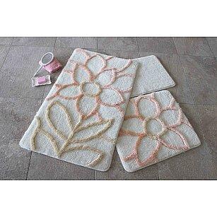 Набор ковриков для ванной DO&CO NATUREL (60*100; 40*60), персиковый
