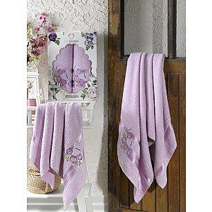 Комплект махровых полотенец TWO DOLPHINS SAMANTHA (50*90; 70*140), лиловый