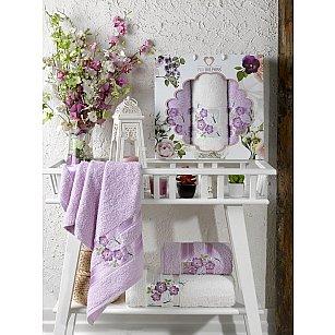Комплект махровых полотенец TWO DOLPHINS SAMANTHA (50*90*2; 70*140), лиловый