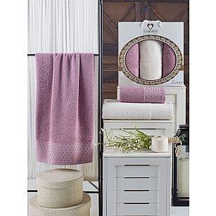 Комплект махровых полотенец TWO DOLPHINS LENNY (50*90*2; 70*140), лиловый