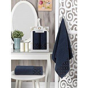 Комплект махровых полотенец Two Dolphins Vespira (50*90; 70*140), синий