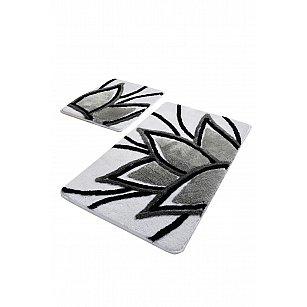 Набор ковриков для ванной DO&CO LOTUS (60*100; 40*60), серый