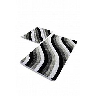Набор ковриков для ванной DO&CO COLORFUL (60*100; 40*60), серый