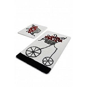 Набор ковриков для ванной DO&CO ALACATI (60*100; 40*60), красный