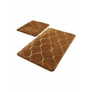 Набор ковриков для ванной DO&CO INFINITY (60*100; 40*60), коричневый