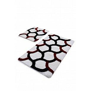 Набор ковриков для ванной DO&CO ELEGANT (60*100; 40*60), белый