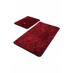 Набор ковриков для ванной DO&CO INFINITY (60*100; 40*60), красный