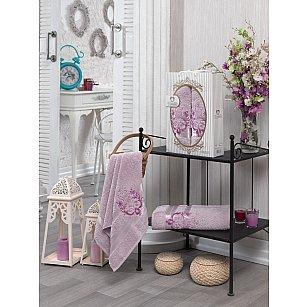 Комплект махровых полотенец TWO DOLPHINS HURREM (50*90; 70*140), светло-розовый