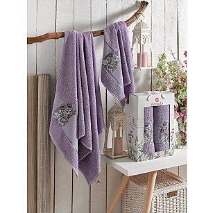 Комплект махровых полотенец MERZUKA FLORAL (50*80; 70*130), лиловый
