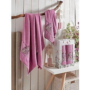 Комплект махровых полотенец MERZUKA FLORAL (50*80; 70*130), светло-лиловый