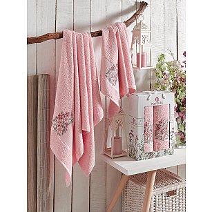 Комплект махровых полотенец MERZUKA FLORAL (50*80; 70*130), светло-розовый