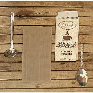 """Набор вафельных салфеток """"MEDLEY"""", коричневый, 40*60 см - 2 шт"""