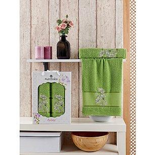 Комплект махровых полотенец MERZUKA AVONE (50*90; 70*140), зеленый