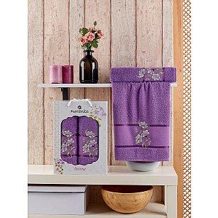 Комплект махровых полотенец MERZUKA AVONE (50*90; 70*140), фиолетовый
