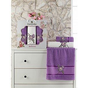 Комплект махровых полотенец MERZUKA BALLERINA (50*90*2; 70*140), фиолетовый