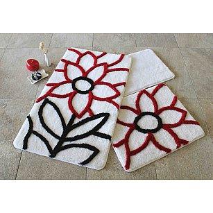 Набор ковриков для ванной DO&CO NATUREL (60*100; 40*60), красный
