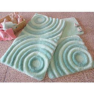 Набор ковриков для ванной DO&CO WAVE (60*100; 40*60), мятный