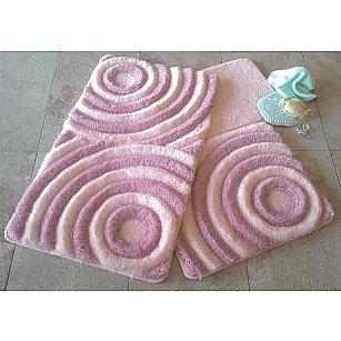 Набор ковриков для ванной DO&CO WAVE (60*100; 40*60), пудра