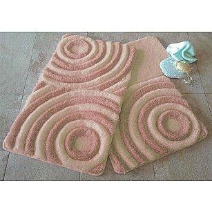 Набор ковриков для ванной DO&CO WAVE (60*100; 40*60), персиковый