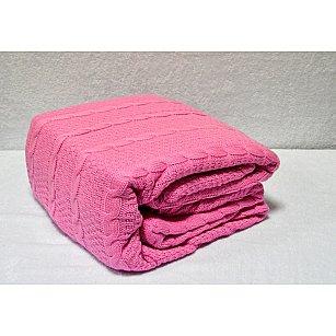 "Плед вязаный ""KARNA SILVIA"", розовый, 220*240 см"