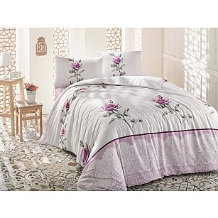 """Комплект постельного белья """"RANFORCE ALMILA"""", розовый"""