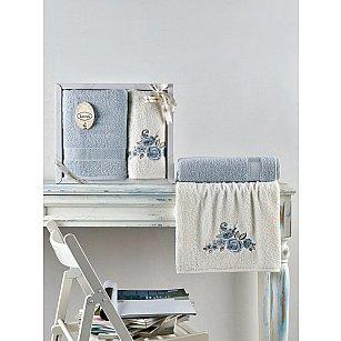 """Комплект махровых полотенец """"KARNA ELVIN"""" (50*90; 70*140), светло-голубой"""
