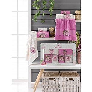 Комплект махровых полотенец Merzuka Hibiscus (30*50*2; 50*80*2; 70*130*2), светло-лиловый