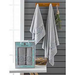 Комплект махровых полотенец Merzuka Elegant (50*90; 70*140), серый