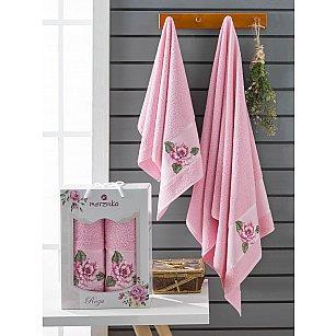 Комплект махровых полотенец Merzuka Roza (50*90; 70*140), розовый