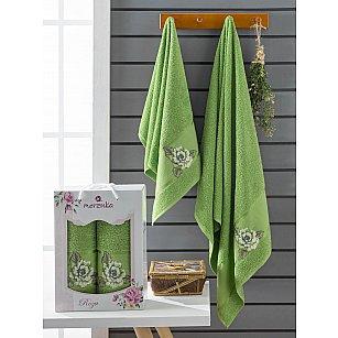 Комплект махровых полотенец Merzuka Roza (50*90; 70*140), зеленый