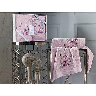 """Комплект махровых полотенец """"KARNA MALINDA"""" (50*90; 70*140), розовый"""