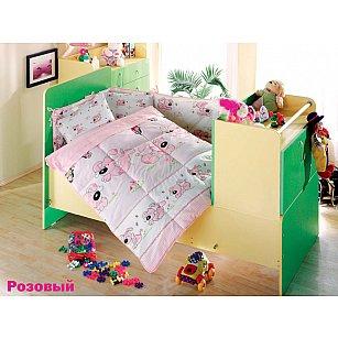 Комплект постельного белья Altinbasak SEVIMLI (Новорожденный), розовый
