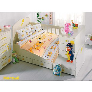 Комплект постельного белья Altinbasak SEVIMLI (Новорожденный), желтый