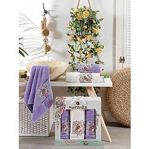 Комплект махровых полотенец MERZUKA BOTANIC (50*80*2; 70*130), лиловый