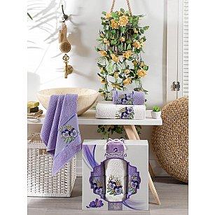 Комплект махровых полотенец MERZUKA VIOLET (50*80*2; 70*130), лиловый