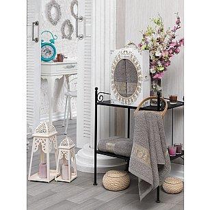 Комплект махровых полотенец TWO DOLPHINS TALISCA (50*90; 70*140), серый