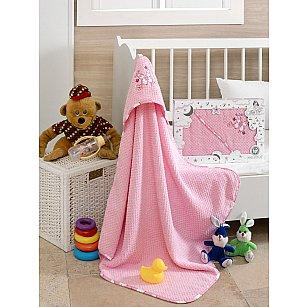 Полотенце с капюшоном Philippus Club, розовый, 80*80 см