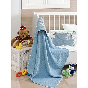 Полотенце с капюшоном Philippus Club, голубой, 80*80 см