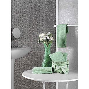 """Набор махровых салфеток в корзине """"KARNA TWIST"""", зеленый, 30*30 см - 5 шт"""