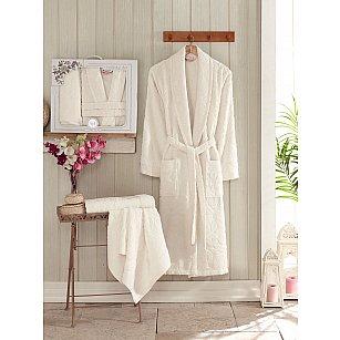 Набор из женского халата и полотенец Philippus Asiya, кремовый